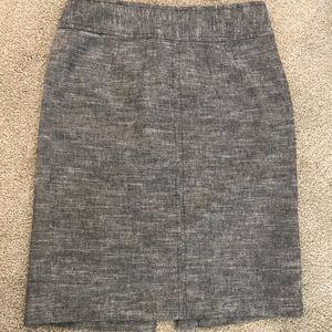 Banana republic linen/cotton pencil career skirt